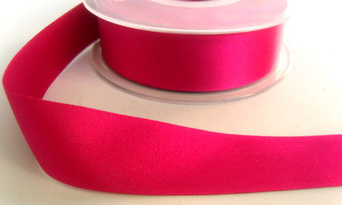 R4277 25mm Deep Shocking Pink Double Faced Satin Ribbon by Berisfords - Ribbonmoon
