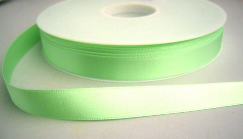 R3123 10mm Mint Green Double Faced Satin Ribbon by Berisfords - Ribbonmoon