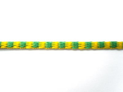 C449C 2.5mm Emerald Green and Yellow Woven Silk Decorative Cord