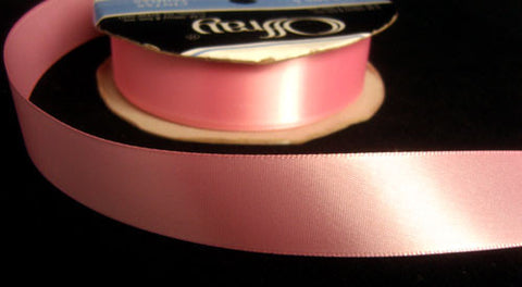 R4610 23mm Pink Single Faced Satin Ribbon by Offray - Ribbonmoon