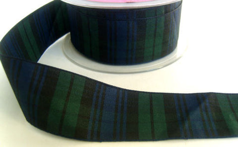 R4669 34mm Blackwatch Tartan Polyester Ribbon - Ribbonmoon