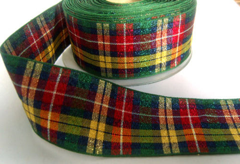 R4671 40mm Metallic Lame Buchanan Tartan Ribbon - Ribbonmoon