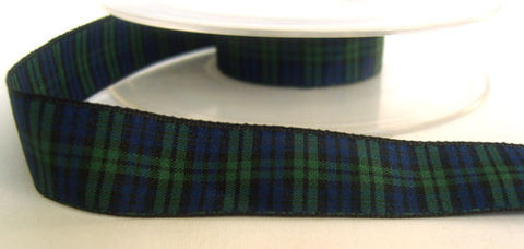 R4674 17mm Blackwatch Tartan Ribbon - Ribbonmoon
