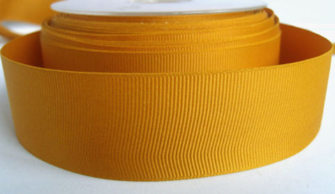 R5494 33mm Burnt Gold Polyester Grosgrain Ribbon by Berisfords - Ribbonmoon