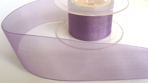 R5676 38mm Purple Sheer Ribbon - Ribbonmoon