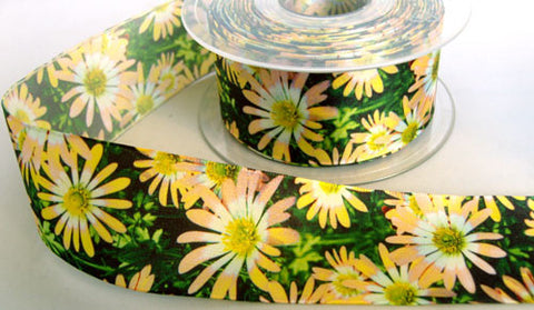 R5914 40mm Flowery Design Polyester Ribbon by Berisfords - Ribbonmoon