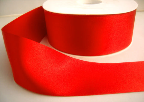 R5993 70mm Poppy Red Double Faced Satin Ribbon by Berisfords - Ribbonmoon