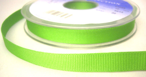 R6251 10mm Spring Green Polyester Grosgrain Ribbon by Berisfords - Ribbonmoon