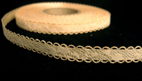R6333 11mm Cream Lace over an Antique Cream Acetate Base - Ribbonmoon