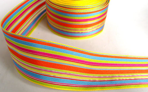 R6364 40mm Berisfords Double Sided Solid and Sheer Stripe Ribbon - Ribbonmoon
