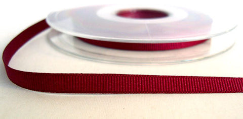 R6521 6mm Wine 9360 Polyester Grosgrain Ribbon by Bersifords - Ribbonmoon
