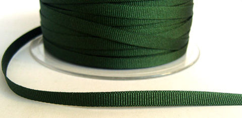 R6524 6mm Forest Green 9871 Polyester Grosgrain Ribbon by Berisfords