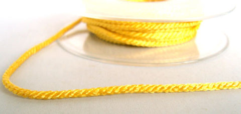 R6552 3mm Buttercup Yellow Twisted Cord - Ribbonmoon