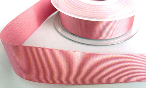 R6564 25mm Dusky Pink 9260 Polyester Grosgrain Ribbon by Berisfords - Ribbonmoon