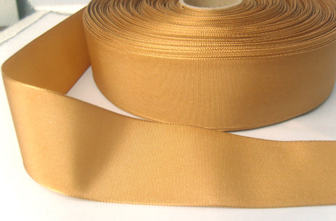 R6718 40mm Old Gold Taffeta Ribbon by Berisfords