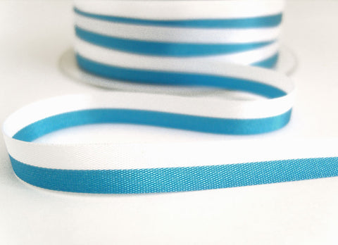 "R7528 9mm White and Blue ""National Band"" Ribbon"