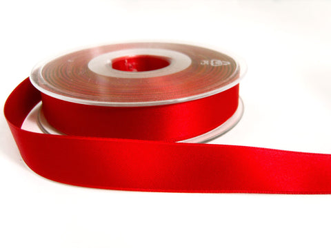 R7549 16mm Poppy Red Double Face Satin Ribbon