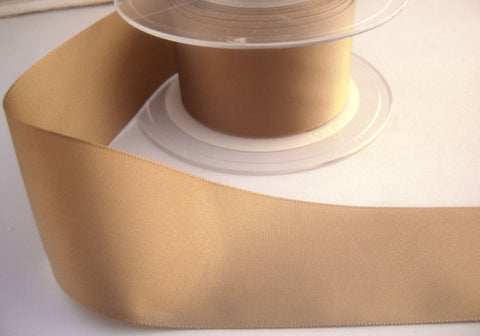 R8340 40mm Beige Polyester Soft Touch Taffeta Ribbon - Ribbonmoon