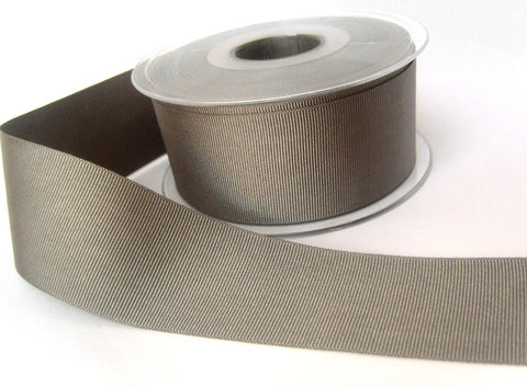 R8492 40mm Dark Grey Polyester Grosgrain Ribbon by Berisfords