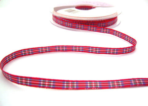 R8504 7mm Royal Stewart Tartan Ribbon by Berisfords