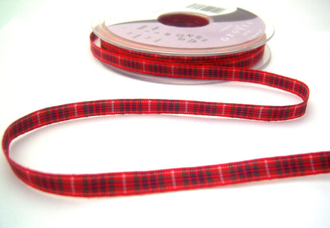 R8507 7mm Frazer Tartan Ribbon by Berisfords