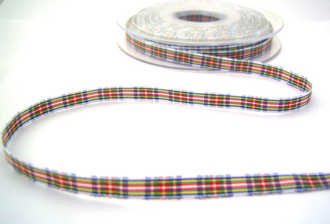 R8518 7mm Dress Stewart Tartan Ribbon by Berisfords