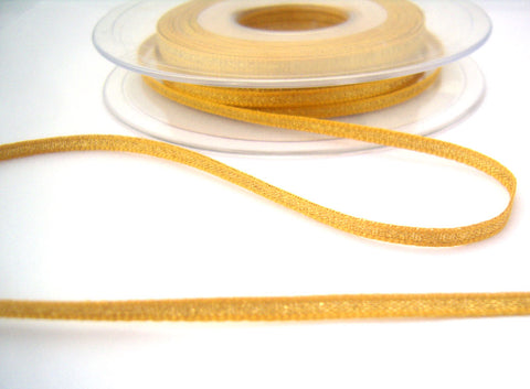 R8522 3mm Dark Gold Metallic Lame Ribbon by Berisfords