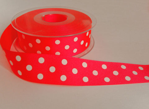 Red Berisfords Grosgrain Ribbon 16 mm wide.