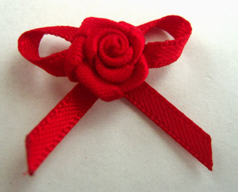 RB148 Red 3mm Satin Rose Bow by Berisfords - Ribbonmoon