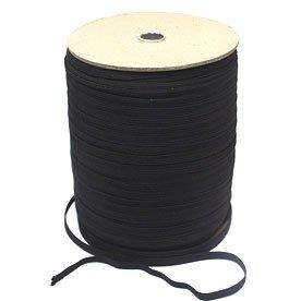 EB12 6mm Black 8 Cord Elastic.