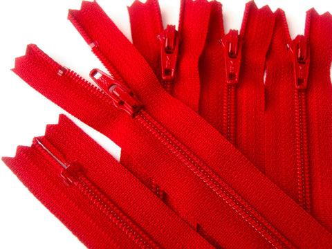 Z0215 YKK 51cm Red Nylon No.3 Closed End Zip