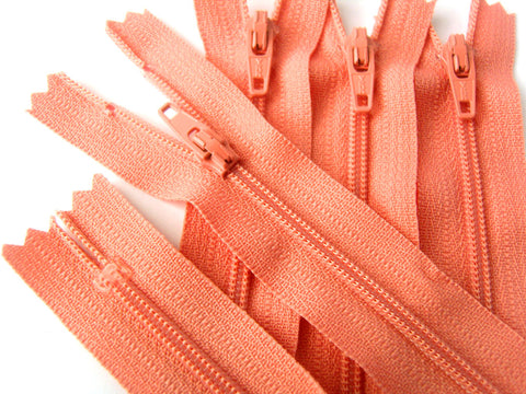Z4287 YKK 20cm Coral Nylon No.3 Closed End Zip