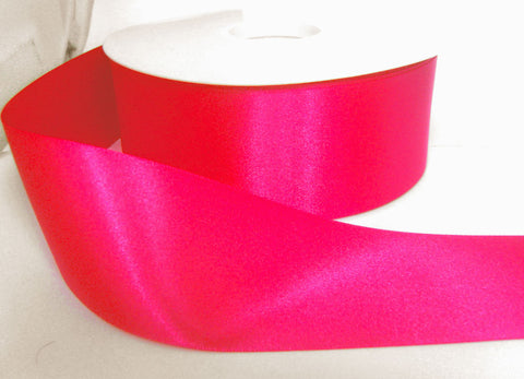 R3729 70mm Shocking Pink Double Face Satin Ribbon by Berisfords