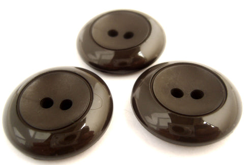 B10228 25mm Dark Brown Chunky 2 Hole Button