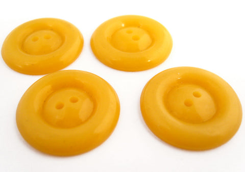 B10292 22mm Dull Yellow Glossy 2 Hole Button