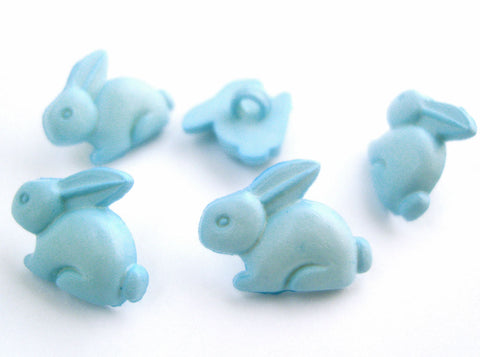 B16808 19mm Pale Blue Bunny Rabbit Shaped Novelty Childrens Shank Button