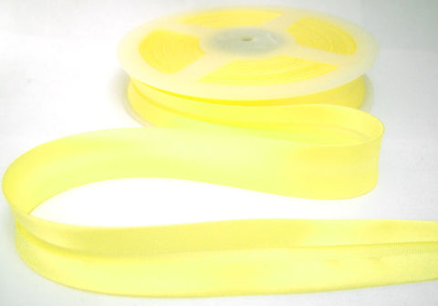 BB001 19mm Primrose Yellow Satin Bias Binding Tape