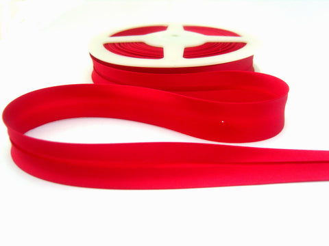 BB359 19mm Cardinal Red Satin Bias Binding Tape