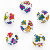 B7010 15mm Multi-Coloured Butterfly Picture Design Novelty Shank Button