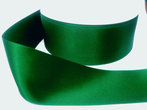 R6002 70mm Hunter Green Double Face Satin Ribbon by Berisfords