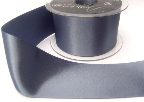 R3804 50mm Moonlight Blue Double Face Satin Ribbon by Berisfords