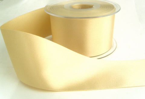 R3089 7mm Cream Double Face Satin Ribbon by Berisfords