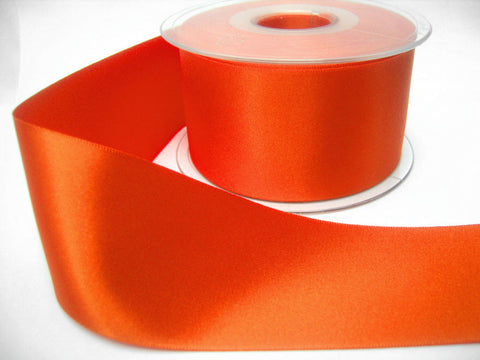 R5987 50mm Flame Orange Double Face Satin Ribbon by Berisfords