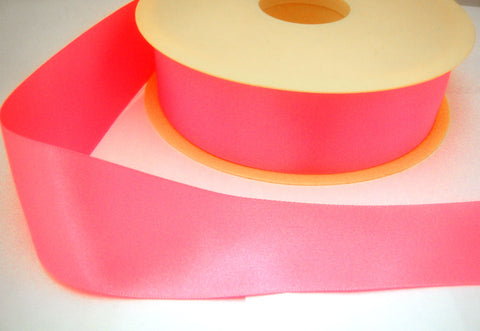 R3655 35mm Fluorescent Pink Double Face Satin Ribbon by Berisfords