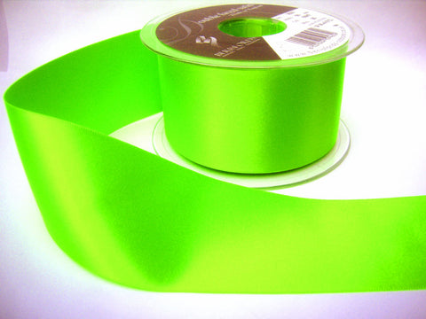 R5798 50mm Fluorescent Green Double Face Satin Ribbon by Berisfords