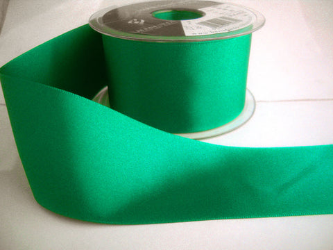 R3731 70mm Jade Green Double Face Satin Ribbon by Berisfords