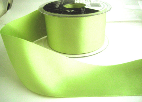 R5764 25mm Pale Lime Green Double Face Satin Ribbon by Berisfords