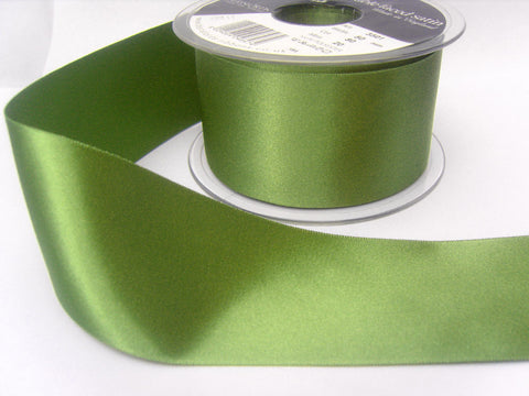 R5911 50mm Khaki Green Double Face Satin Ribbon by Berisfords