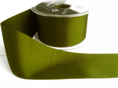 R0728 35mm Cypress Green Single Face Satin Ribbon by Berisfords