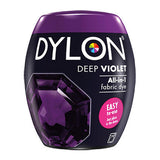 Dylon Fabric Machine Dye, Deep Violet, 350g Pod with Salt